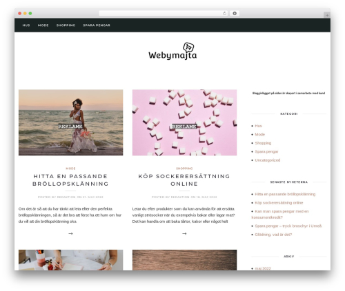 Solien WordPress template - webymajta.se
