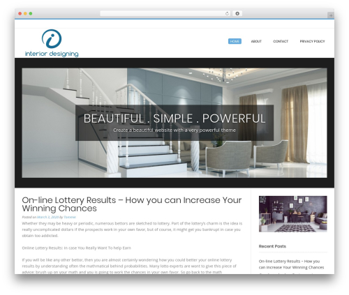WordPress theme Conica - interior-designing.net
