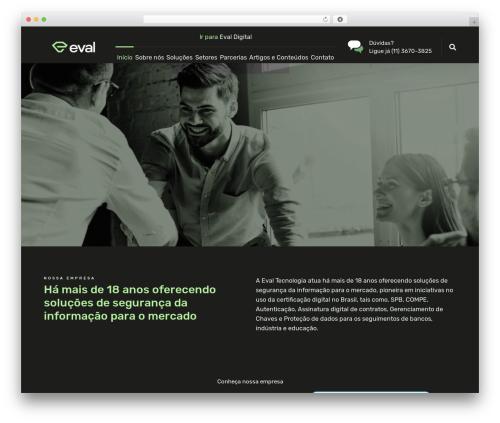 WordPress website template Nanosoft - evaltec.com.br
