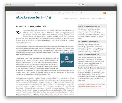 WP-PinUp WordPress theme - stockreporter.de
