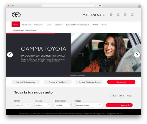 WP template WebSparK Theme - marianiauto-toyota.it