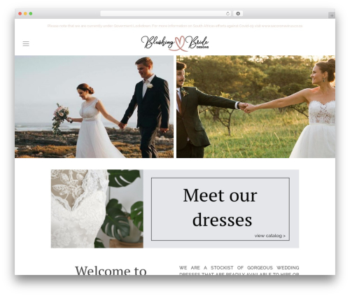 Chester best wedding WordPress theme - blushingbride.co.za