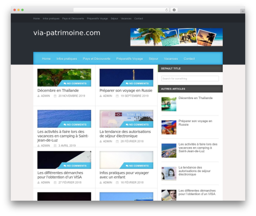 WordPress theme Reviewgine Affiliate - via-patrimoine.com