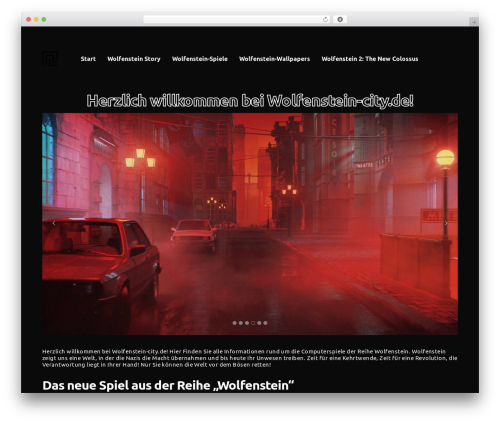 WordPress theme Revolution - wolfenstein-city.de