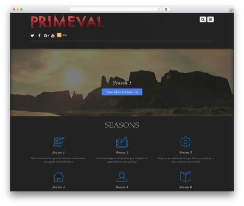 WordPress theme Themify Simfo - primeval.tv