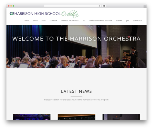 Blended WordPress page template - harrisonorchestra.org