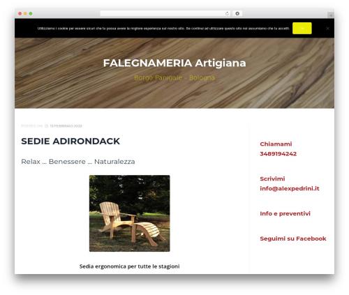 Cronus premium WordPress theme - alexpedrini.it