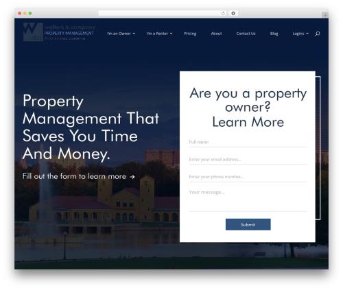 Divi company WordPress theme - rentgowalters.com