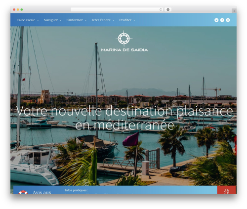 Marina theme WordPress - marinasaidia.ma