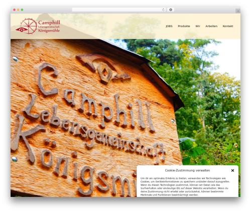 Sydney Pro Child WordPress website template - camphill-rheinland-pfalz.de