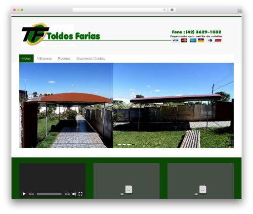 Accelerate template WordPress free - toldosfarias.com.br