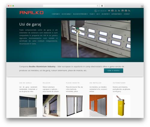 analko WordPress website template - usi-de-garaj.biz
