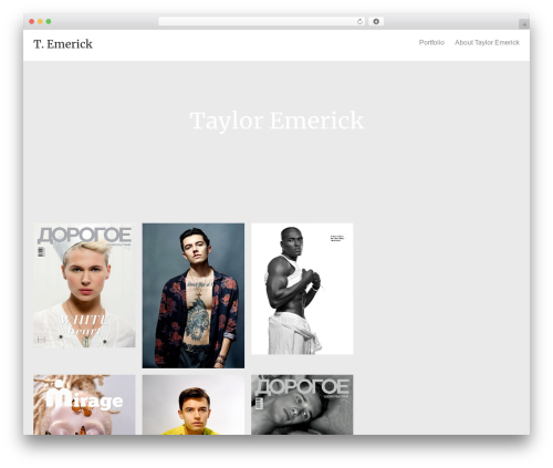 Oren best WordPress theme - tayloremerick.com