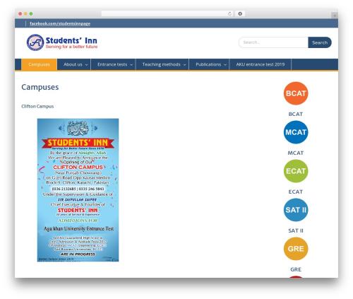 Education Hub WordPress theme free download - studentsinn.edu.pk