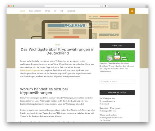 Bulan template WordPress - loxicon.de