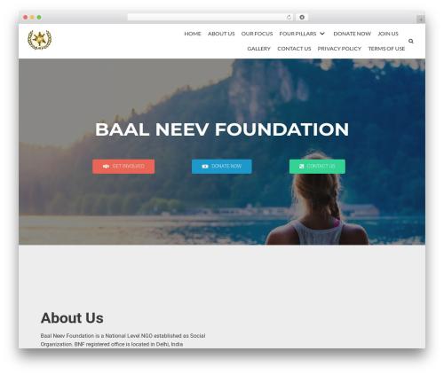 neve WordPress website template - baalneevfoundation.org