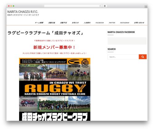 Sports Club Lite WordPress theme - chaozu.info