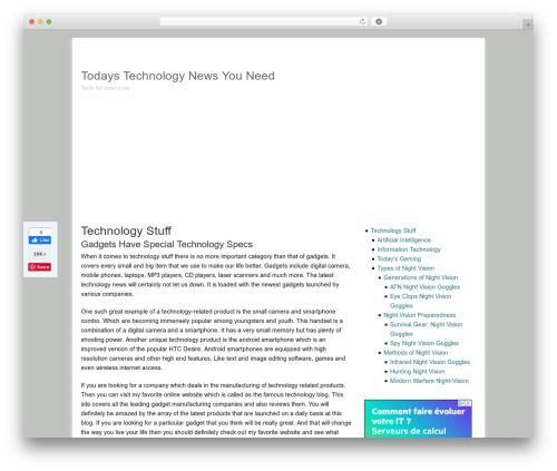Catalyst WordPress template - 255lounge.com