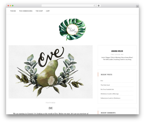 Sanremo free WordPress theme - thelesserme.com