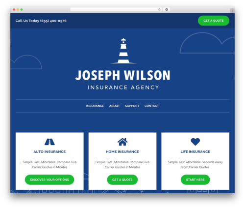 WordPress theme BrightFire Stellar - josephwilsoninsurance.com