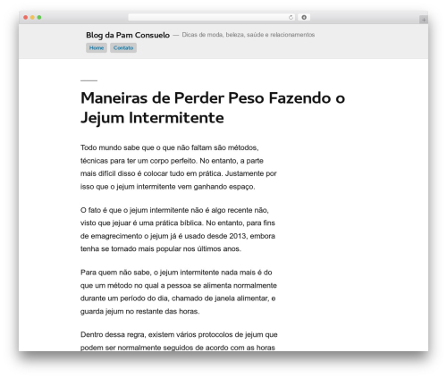 Cleanine WordPress blog template - panaconsul.com.br