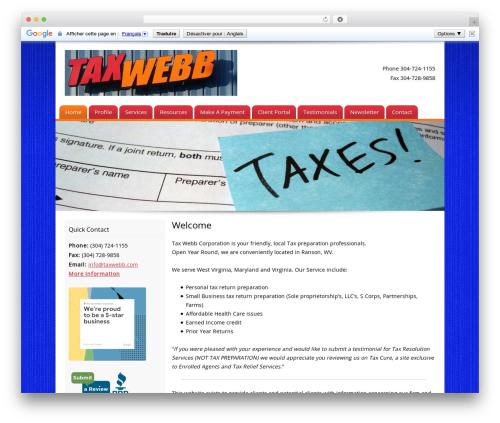 Customized WordPress template - taxwebb.com