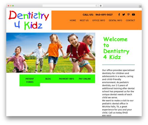 Fusion WordPress website template - dentistry4kidz.com