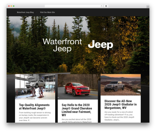Garfunkel theme WordPress - waterfrontjeepblog.com
