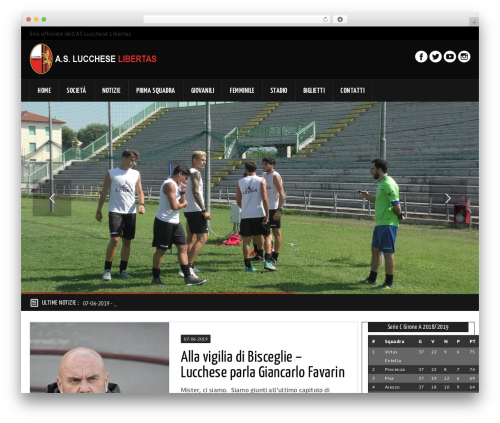 GoalKlub WordPress theme - asluccheselibertas.com