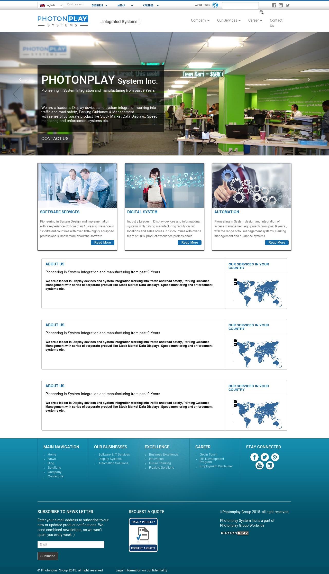 photondisplay business WordPress theme