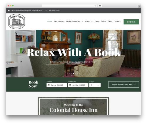 RoyBedAndBreakfast WP template - colonial-house-inn.com
