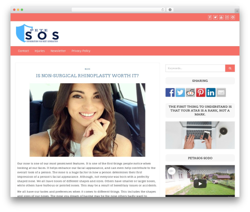 Di eCommerce WordPress store theme - petesos.com