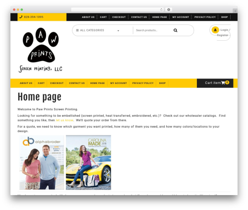 Ecommerce Solution best WordPress theme - ncpawprinting.com