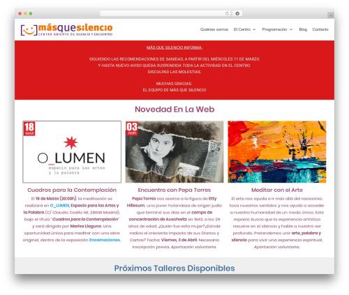 neve WordPress theme - masquesilencio.com