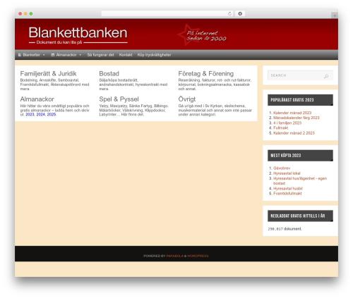 Theme WordPress Parabola - blankettbanken.se
