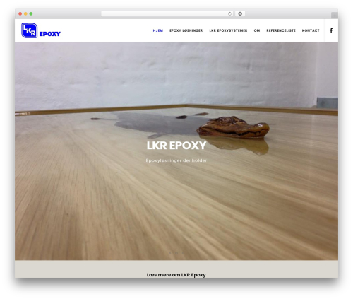 WordPress website template Movedo - lkrepoxy.dk