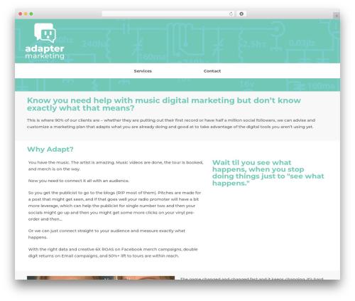 WordPress website template neve - adaptermarketing.com