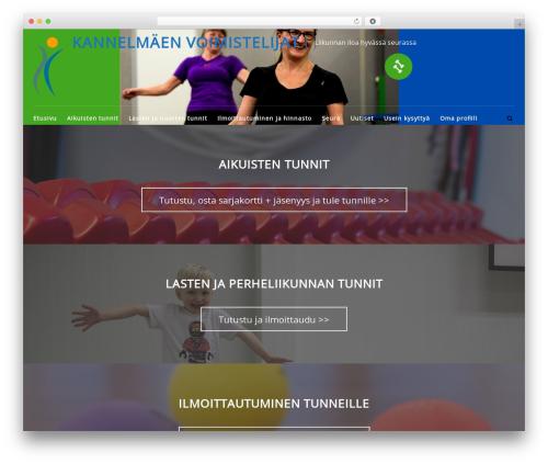 FitClub Pro premium WordPress theme - kannelmaenvoimistelijat.fi