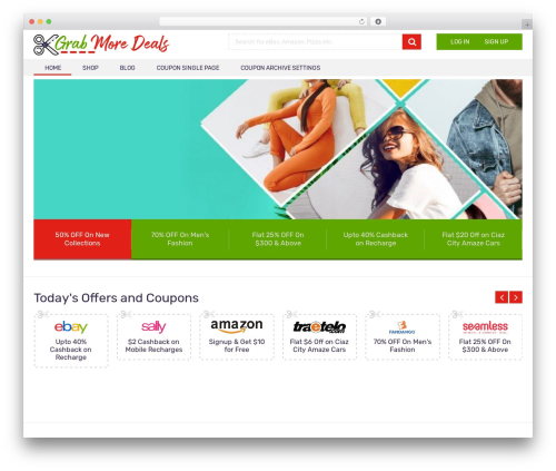 Coupon by MyThemeShop WordPress theme - grabmoredeals.com