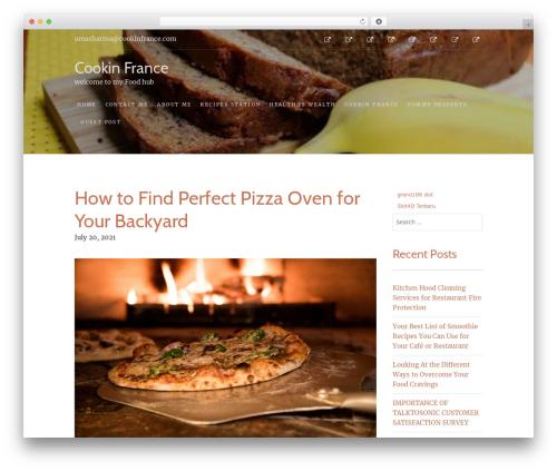 Food Express best free WordPress theme - cookinfrance.com