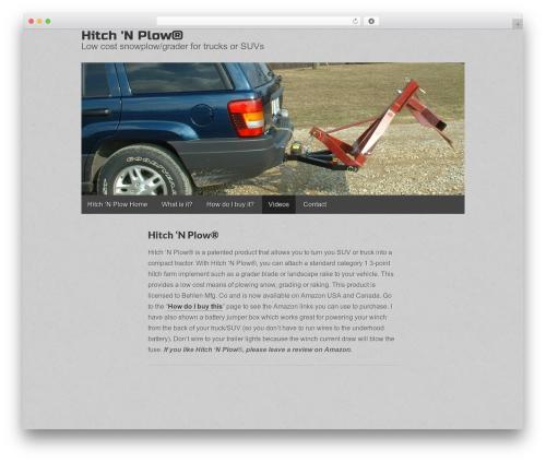 Gridiculous free WordPress theme - hitch-n-plow.com