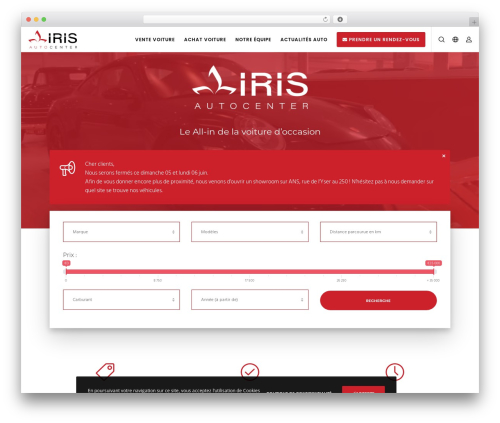 Movedo WordPress theme design - irisautocenter.be
