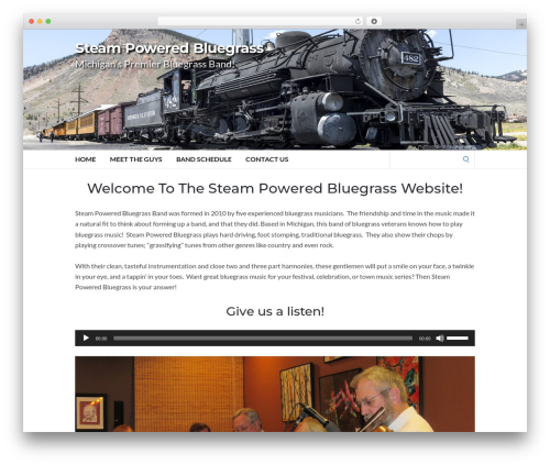 Socrates v5 WordPress theme - steampoweredbluegrass.com