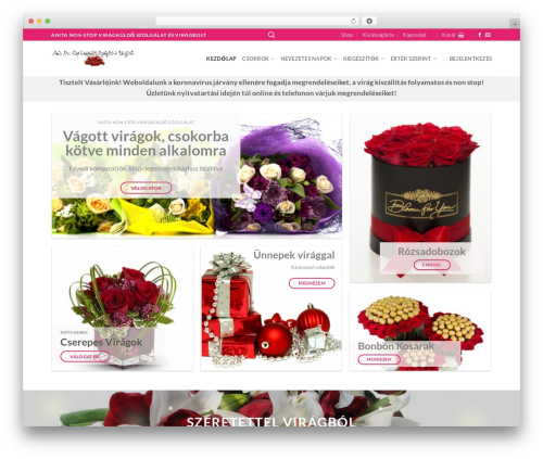 Flatsome best WordPress theme - anitaviragbolt.hu