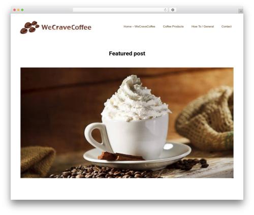 GeneratePress WordPress theme design - wecravecoffee.com