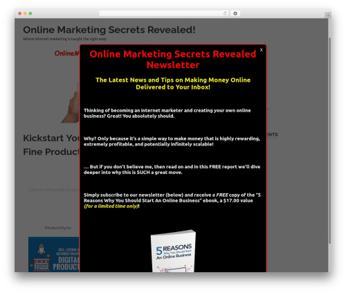 Poseidon WordPress theme - onlinemarketingsecretsrevealed.com
