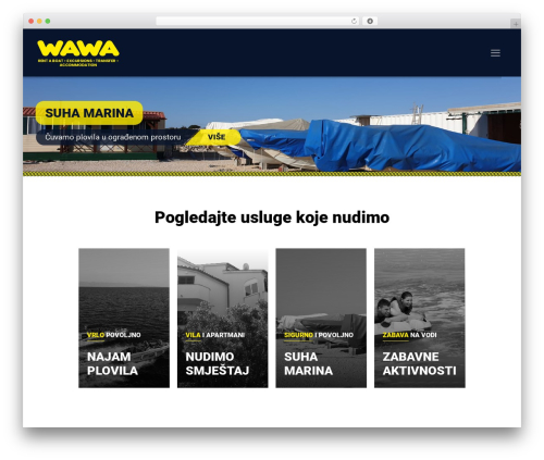WordPress template Betheme - wawaboat.com