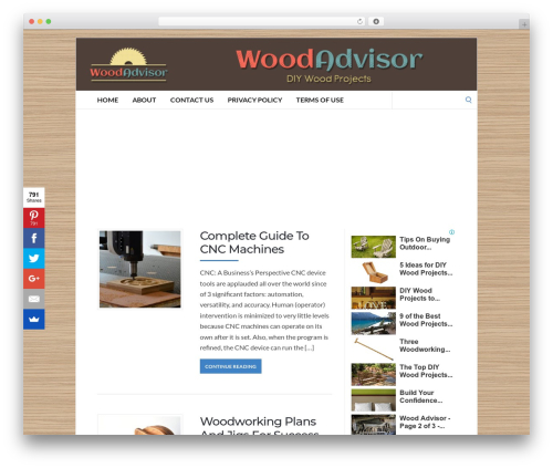 WordPress theme Socrates v5 - woodadvisor.net