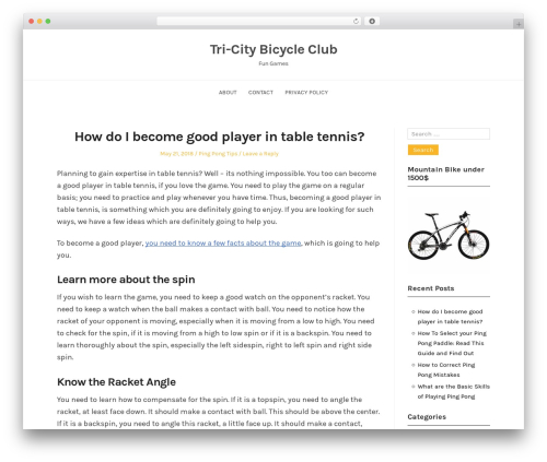 BlogFeedly WordPress blog template - tricitybicycleclub.org