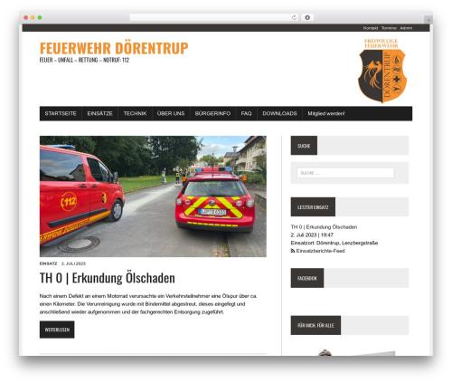Feuerwehr Webseite WordPress theme - feuerwehr-doerentrup.de